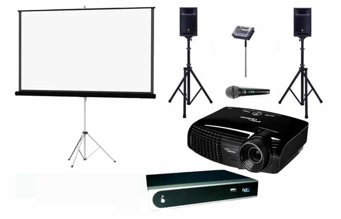 bundle 6 film sport set beamer leinwand dvbt. Black Bedroom Furniture Sets. Home Design Ideas